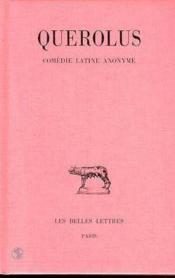 Comédie latine anonyme - Couverture - Format classique
