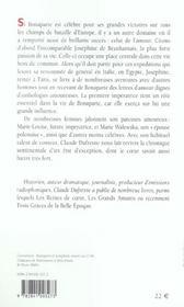 Bonaparte Amoureux - 4ème de couverture - Format classique