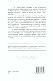 Aux Avant-Postes Du Progres. Essai Sur L' Uvre De J.M. Coetzee - 4ème de couverture - Format classique