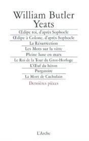 Oedipe roi, d'apres sophocle dernieres pieces - Couverture - Format classique