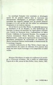Max Weber Et La Sociologie Francaise - 4ème de couverture - Format classique