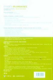 Revue Etudes Irlandaises N.30.2 ; L'Irlande Et L'Europe - 4ème de couverture - Format classique