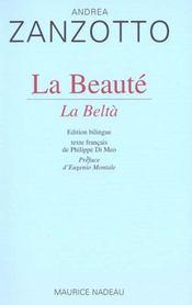 La beauté ; la belta - Intérieur - Format classique