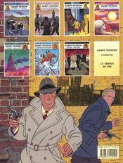 Harry Dickson T.7 ; Echec Au Roi - 4ème de couverture - Format classique