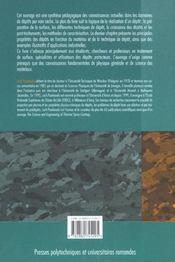 Depots physiques techniques, microstructures et proprietes - 4ème de couverture - Format classique