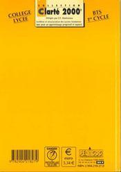 Claridad exercices corriges - 4ème de couverture - Format classique