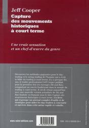 Capture des mouvements historiques à court terme - 4ème de couverture - Format classique
