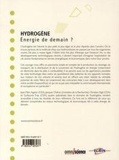Hydrogène - 4ème de couverture - Format classique
