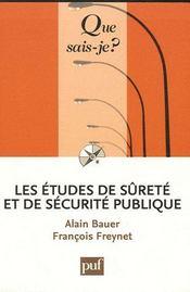 Les études de sûreté et de sécurite publique - Couverture - Format classique