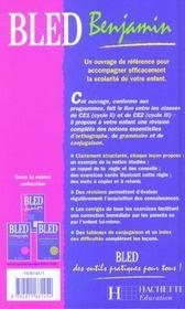 Bled benjamin ; 7-8 ans - 4ème de couverture - Format classique