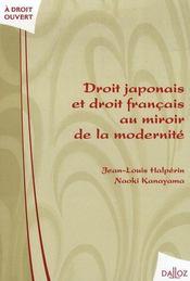 Droit japonais et droit français au miroir de la modernité - Intérieur - Format classique