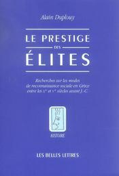 Prestige des elites (le) - Intérieur - Format classique
