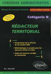 Redacteur Territorial Categorie B Concours Externe Et Interne Fonction Publique Territoriale - Intérieur - Format classique