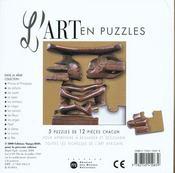 Art En Puzzle L'Afrique - 4ème de couverture - Format classique