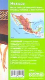Geoguide ; Mexique - 4ème de couverture - Format classique