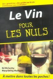 Le vin pour les nuls - Intérieur - Format classique