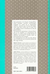 Nouvelle grammaire française - 4ème de couverture - Format classique