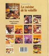 Comment faire la cuisine de la volaille - 4ème de couverture - Format classique