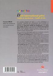 Memento droit international prive - 4ème de couverture - Format classique