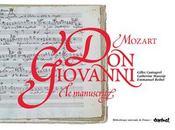 Le manuscrit de Don Giovanni de Mozart - Intérieur - Format classique