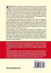 L'art de la formule expliqué aux scientifiques ; recommandations générales pour la rédaction de documents écrits et pour les présentations orales - 4ème de couverture - Format classique