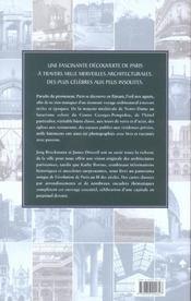 Paris - mille monuments - 4ème de couverture - Format classique