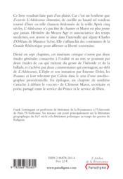 Clément Marot, de l'adolescence à l'enfer - 4ème de couverture - Format classique