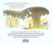 Histoires De Chats Zen - 4ème de couverture - Format classique