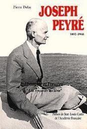 Joseph Peyre 1892-1968 - Couverture - Format classique