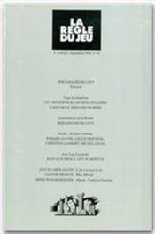 Revue La Regle Du Jeu N.14 - Couverture - Format classique