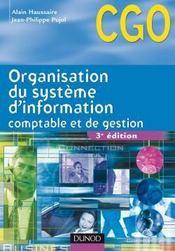 Organisation du système d'information comptable et de gestion ; CGO ; manuel (3e édition) - Couverture - Format classique