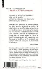 Jardin de poèmes enfantins - 4ème de couverture - Format classique