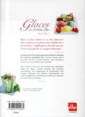 Glaces et sorbets bio - 4ème de couverture - Format classique