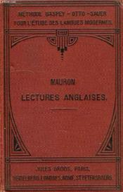 Lectures Anglaises - Couverture - Format classique