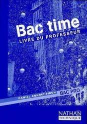 Bac time bac pro professeur 98 - Couverture - Format classique