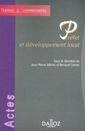 Prefet et developpement local - 1ere ed. - Intérieur - Format classique