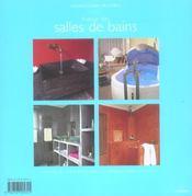 Autour des salles de bains ; vasques, baignoires, douches - 4ème de couverture - Format classique