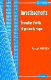 Investissements ; Evaluation D'Actifs Et Gestion Du Risque - Intérieur - Format classique