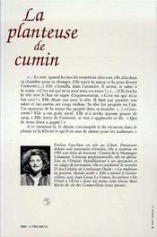 La planteuse de cumin - 4ème de couverture - Format classique