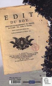 Le commerce du the de la chine a l'europe, xviie-xxie siecle - 4ème de couverture - Format classique