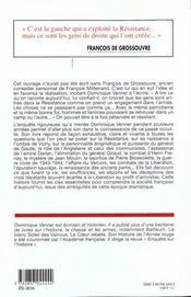 Histoire Critique De La Resistance - 4ème de couverture - Format classique