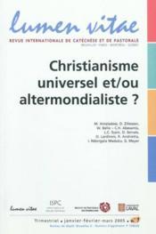 Revue Lumen Vitae - Couverture - Format classique