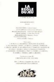 Revue La Regle Du Jeu N.16 - Couverture - Format classique
