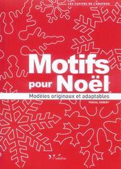 Motifs pour Noël ; modèles originaux et adaptables - Intérieur - Format classique