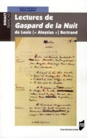Lectures de Gaspard de la nuit, de Louis (« Aloysius » ) Bertrand - Couverture - Format classique