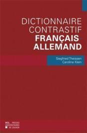 Dictionnaire contrastif français-allemand - Couverture - Format classique