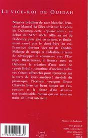 Le vice-roi de Ouidah - 4ème de couverture - Format classique
