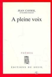 A Pleine Voix - Couverture - Format classique