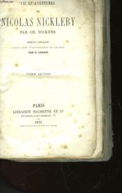 Vie Et Aventures De Nicolas Nickleby - Tome Second - Couverture - Format classique