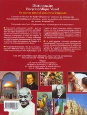 Dicitonnaire Encyclopedique Visuel - 4ème de couverture - Format classique